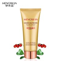 Wholesale MENXILAN silk protein essence facial cleanser face skin care Deep Cleansing acne treatment black head whitening moisturizing