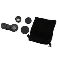 Wholesale 180 Degree Fisheye Macro in Lens Magnetic Mount for Mobile Phones black