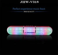 Wholesale JHW V318 Bluetooth speaker Pulse Pill LED Flash Lighting Portable Wireless Bluetooth Speaker Bulit in Mic Handsfree