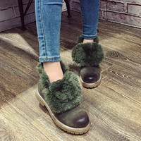 army boots shop - Short boots Half boots Snow boots Spring autumn winter Warm shoes Army green Beige high quality women fashion martin boots Free shopping