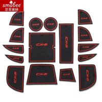 anti slip vinyl - 16pcs set Mazda CX CX5 Accessories D Rubber Car Mat Car Anti Slip Mat Non slip Mats Interior Door Groove Mat