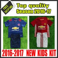 arts logos - Top quality United jersey kids new arrived home and away red blue camisetas maillots de foot embroidery logo
