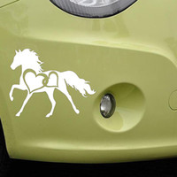 Wholesale Art Design Cars Window Decals Creative Horse Hearts Car Sticker Removable PVC Adhesive