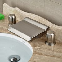 basin prices - Good Price Best Quality New Type Brushed Nickel Deck Mounted with Dual Handles Wash Basin Sink Faucet