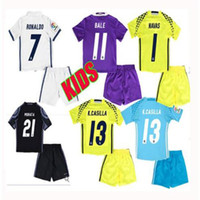 Wholesale kids Real Madrid Kids home Away RD goalkeeper jerseys Real Madrid RONALDO BENZEMA JAMES BALE shirt