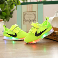 baby boy baskets - 2016 New Led children s shoes basket led kids boy bright child shoe led shoes for kids girl sneakers baby sport toddler