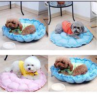 Wholesale Softy round warm dog Bed comfortable luxury Dog nest Luxury warm round