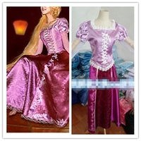 Wholesale adult rapunzel costume tangled adult rapunzel fancy dress womens cosplay tangled rapunzel princess costume for women purple