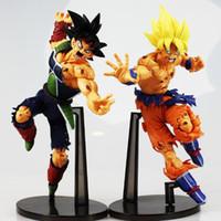 Wholesale High Quality Dragon Ball Z Resurrection F Super Saiyan Son Gokou Bardock PVC Action Figure Collectible Model Doll Toys cm With Box