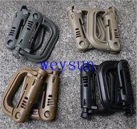Wholesale Molle Tactical Backpack EDC Shackle Carabiner Snap D Ring Clip KeyRing Locking