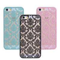 apple lists - New Listing Frosted Phone Case for Apple iPhone S Case Shell Vintage Damask Flower Pattern Fashion Luxury Phone Back Cover
