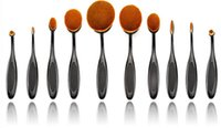 Wholesale 2016 hot Beauty Toothbrush Shaped Foundation Power Makeup Oval Cream Puff Brushes
