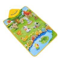 animal sounds samples - Hot Sale Musical Sound Singing Farm Animal Farmery Child Playing Play Blanket Mat Carpet Playmat