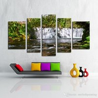 Wholesale Unframed panel The Moving Waterfall Large HD Home Decorative Picture Wall Art Print Modern Painting On Canvas For Living Room