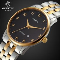 belt buckles store - Ochstin Luxury Watch Men Gold And Black Face Sapphire Glass Mens Watches Stainless Steel Business Clock Quartz Watches Store
