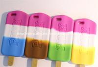 Compra Helados-Para Iphone 3 Cajas del teléfono celular del silicón del helado del Popsicle 3D para el iPhone 5 6 más 4.7 5.5 pulgadas DHL