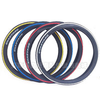 Wholesale 26 mountain bike tire tread edge color blue side red edge yellow edge white border shipping