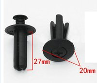 Wholesale 100 X mm Hole Black Plastic Push Fastener Rivets Clips For Car Truck SUV