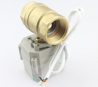 Wholesale Factory Whole sale Motorized Ball Valve quot AC110V V Brass Normally Closed Way CR5 Five Wires Electric Ball Valve