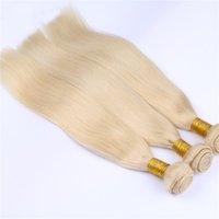 Wholesale Grade A Blonde Hair Extensions Brazilian Virgin Straight Hair Blonde Human Hair Bundles for Fashion Lady