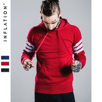 american inflation - INFLATION Autumn Men Cotton Hooded Christmas Sweater Soild Color Sweaters Men Pullovers Fashion Brands