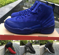 Wholesale 2016 air retro Premium Deep Royal Blue Suede Wool Black Nylon grey ovo white taxi playoffs gold Men Basketball Shoes sports Sneakers