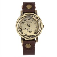 auto color match - Retro Summer Style Quartz Watch Women PU Leather Band Coffee Color All match Fashion Men Watches