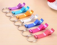 beverage can opener - 3000pcs key chain metal aluminum alloy keychain ring beer Can bottle opener Openers Tool Gear Beverage custom personalized pay extra A029