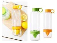 Wholesale 2016 hot sell Citrus Zinger Fruit Infusion Water Bottle Citrus Zinger Water Bottle with Citrus Juicer Lemon cup WA0696
