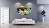 abstract waterfalls - 4 canvas canvas print landscape waterfalls running water the sitting room hotel bar