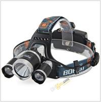 Wholesale Boruit RJ Headlamp XML T6 Lumens Mode LED Headlight Led USB Power bank Rechargeable Hunting Head Light Charger