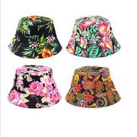 Wholesale Hug Me Women Hats New Summer Floral Hats Fashion Print Sun Hats Trend Casual Caps M