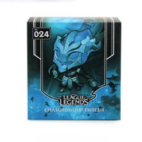 Wholesale League of Legends LOL Q version doll CHAMPIONSHIP THRLSH hand model cm Boxed PVC Action Figure Collection Model Toy Gift