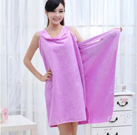 Wholesale New style Women Lady SPA Shower Towel Body Wrap Bath Robe Bathrobe Magic Spa Beach Dress Swimwear wash clothes