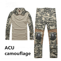 Hunting Men Cotton Men's Military Army Tactical Airsoft Combat Uniform Paintball Hunting SWAT Wear Sets Gen2 Shirt & Elbow Pad Pants & Knee Pads