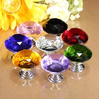 beautiful door knobs - Colorful High Quality mm Diamond Shape Crystal Glass Cupboard Drawer Door Pull Knob Handle Beautiful Design