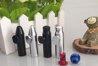 al por mayor metal in roll-pastillero bala de aluminio y metal tabaco snorter tubo de fumar shisha hookah regalo molinillo de una máquina rodando vidrio de papel pipa vaporizador