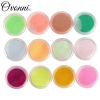 Wholesale 12 Colors Acrylic Powder Manicure Nail Art Tips D Decoration Builder Polymer Set Manicure Tool