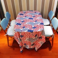 Wholesale Colorful Rectangle Tablecloth Halloween Christmas US flag Printed PE Tablecloths for Wedding Party Festive Supplies