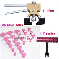 Wholesale PDR Lifter Glue Tabs puller T handle Tab puller w Glue Tabs Paintless Dent Removal Repair Tool Kits