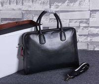 Wholesale Designer High quality Genuine leather cowhide Briefcase Fashion Men business Tote handbag Famous brand luxury laptop shoulder messenger bags