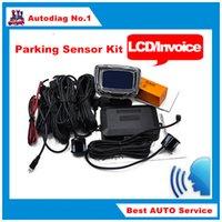 automotive backup sensors - New Sensors English Human Voice LCD Parking Sensor Kit Real Person Speech mm Car Reverse Backup Radar System V