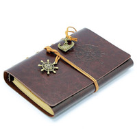 Wholesale 7 x Inches Vintage Retro Leather Cover Notebook for Diary Travel journal and Note with Blank Pages and Retro Pendants
