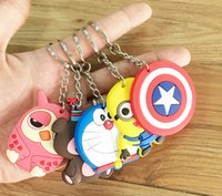 Wholesale 21 styles keychain cartoon Despicable Me cats girl boy bear Doraemon Captain America keychain car pendant Minions doll gift