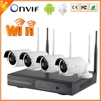 wireless wired ip camera - 1080P NVR WIFI P IP Camera Wireless Real P2P Plug Play Channel IP Camera Wifi Wireless Kit System CCTV CH