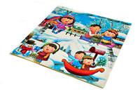 baby play areas - EVA Cartoon Puzzle Mats For Baby Play Snow Anti Fatigue Waterproof Baby Crawling Pads Area Rugs Interlocking Foam Floor Mats