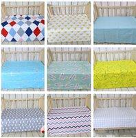 Wholesale Baby bed ins sheet Crib Cot Bed Sheet Crib Sheets Kids cartoon swan mattress cover cotton bed sheet soft crib cm