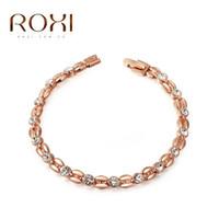 Wholesale Big Sale ROXI Genuine Austrian Crystals Elegant Wheat Bracelet Rose Gold Platinum Plated hand Made Fashion Jewelry