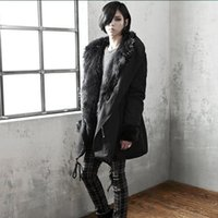 amy coat - Hot Gothic Fashion Mens Winter Jackets And Coats With Fur Collar Warm Hooded Down Long Men Parka Padded Jacket Amy Green