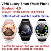 8pcs V365 Smart Smart Watch téléphone Bluetooth 4.0 à la fois app pour IOS Android K8 GSM partenaire d'appel pour smartphone podomètre GPS DHL